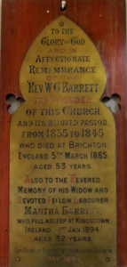 Four Paths United, Barrett plaque