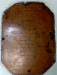 Foundation Brass Plate
