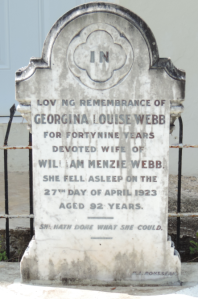 Webb, Georgiana Tombstone