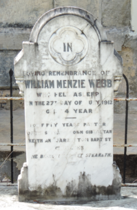 Webb, William tombstone
